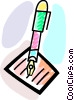 Fountain Pens Vector Clipart illustration