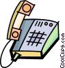 Office Phones Vector Clipart graphic