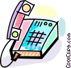 Vector Clipart picture  of a Office Phones