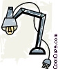 Vector Clipart illustration  of a Desk Lamps