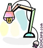 Desk Lamps Vector Clipart illustration