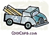 Vector Clip Art graphic  of a Light Trucks