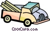 Vector Clip Art image  of a Light Trucks