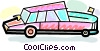 Vector Clip Art graphic  of a Limousines