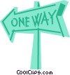 Vector Clip Art picture  of a Street Signs Road Signs