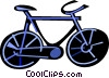 Vector Clip Art graphic  of a Bicycles