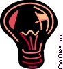 Vector Clip Art graphic  of a Light bulbs