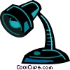 Vector Clipart graphic  of a Desk Lamps
