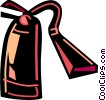 Vector Clip Art graphic  of a Fire Extinguishers