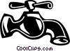 Vector Clip Art graphic  of a Faucets