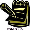 Vector Clipart illustration  of a Notepad
