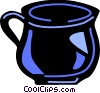 Teacups Vector Clip Art graphic