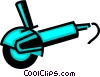 Vector Clipart graphic  of a Grinding Wheel