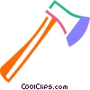 Vector Clipart picture  of an Axes Hatchets