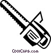 Vector Clipart graphic  of a Chainsaws