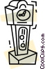 Vector Clip Art graphic  of a Grandfather Clocks