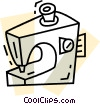 Vector Clip Art picture  of a Sewing Machines