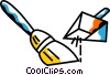 Vector Clipart illustration  of a Brooms and Dustpans