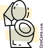 Vector Clip Art image  of a Toilets