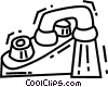 Vector Clipart picture  of a Faucets