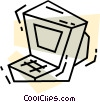 Vector Clip Art image  of a Computer Desktop Systems