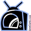 Vector Clip Art graphic  of a Televisions