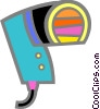 Vector Clip Art picture  of a Hair Dryers or Blow Dryers