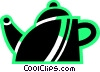 Vector Clip Art graphic  of a Teapots