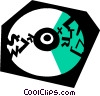 Vector Clip Art graphic  of a CD-ROM Media