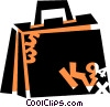 Briefcases Vector Clipart illustration