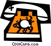 Home Phones Vector Clipart graphic