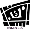 Vector Clip Art image  of a Dollars