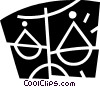 Vector Clip Art graphic  of a Scales
