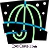 Umbrellas Vector Clip Art graphic