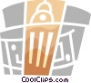 Vector Clipart graphic  of a Capitols