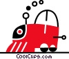Vector Clip Art image  of a Toy Trains