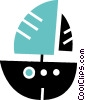 Vector Clipart picture  of a Sailboats