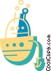 Ships Vector Clip Art graphic