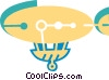 Vector Clipart graphic  of an Airships or Dirigibles