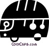Tour Buses Vector Clip Art picture