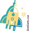 Vector Clip Art image  of a Rockets