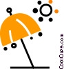 Vector Clip Art graphic  of a Umbrellas