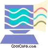 Computer Desktop Systems Vector Clip Art picture