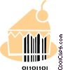 Vector Clip Art picture  of a Cakes and Pastries