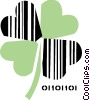 Vector Clip Art graphic  of a Shamrocks