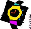 Vector Clipart image  of a Wristwatches