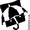 Umbrellas Vector Clipart image