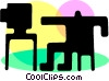 Vector Clip Art picture  of a Televisions
