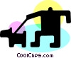 Vector Clip Art image  of a Misc Dogs