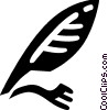 Vector Clipart image  of a Feather Pens and Quills